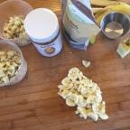 Banana Apple Honey Almond Overnight Oats